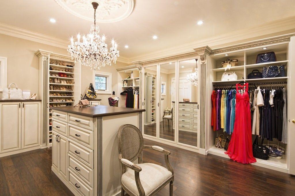 A Girl Can Dream, Right? Http://www.closetfactory.com /custom Closets/closet Organizer Galleries/walk In Closets/?imgidu003d10558
