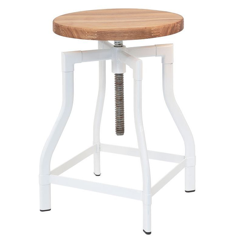 Replica Turner Industrial Bar Stool In White 68cm Industrial Bar Stools Industrial Bedroom Furniture Industrial Furniture
