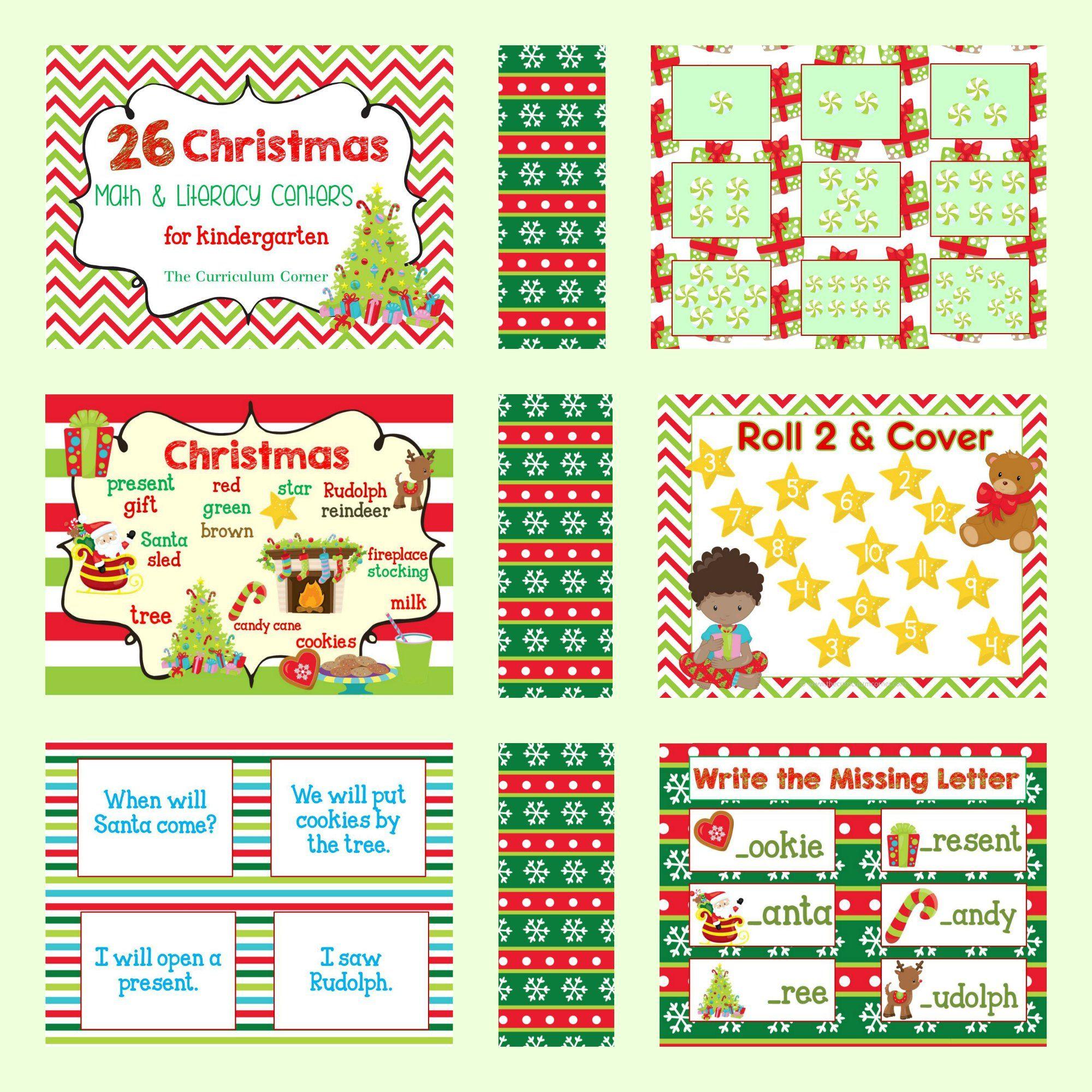 Christmas Math Amp Literacy Centers