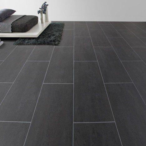Sol vinyle Aerotex béton Melbourne noir, 4 m