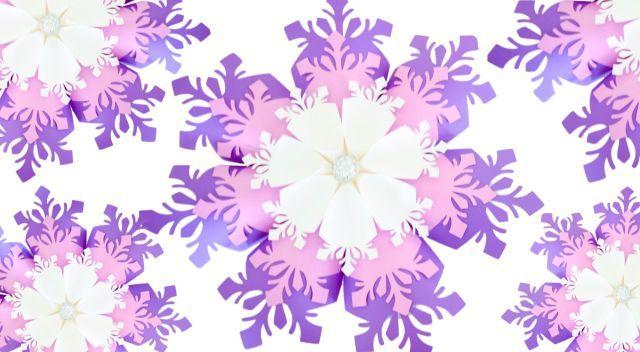 Big paper snowflake flower pattern #floconsdeneigeenpapier