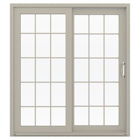 Jeld Wen V 4500 71 5 In 15 Lite Glass Desert Sand Vinyl Sliding Patio Sliding Patio Doors Sliding Doors Exterior Vinyl Patio Doors