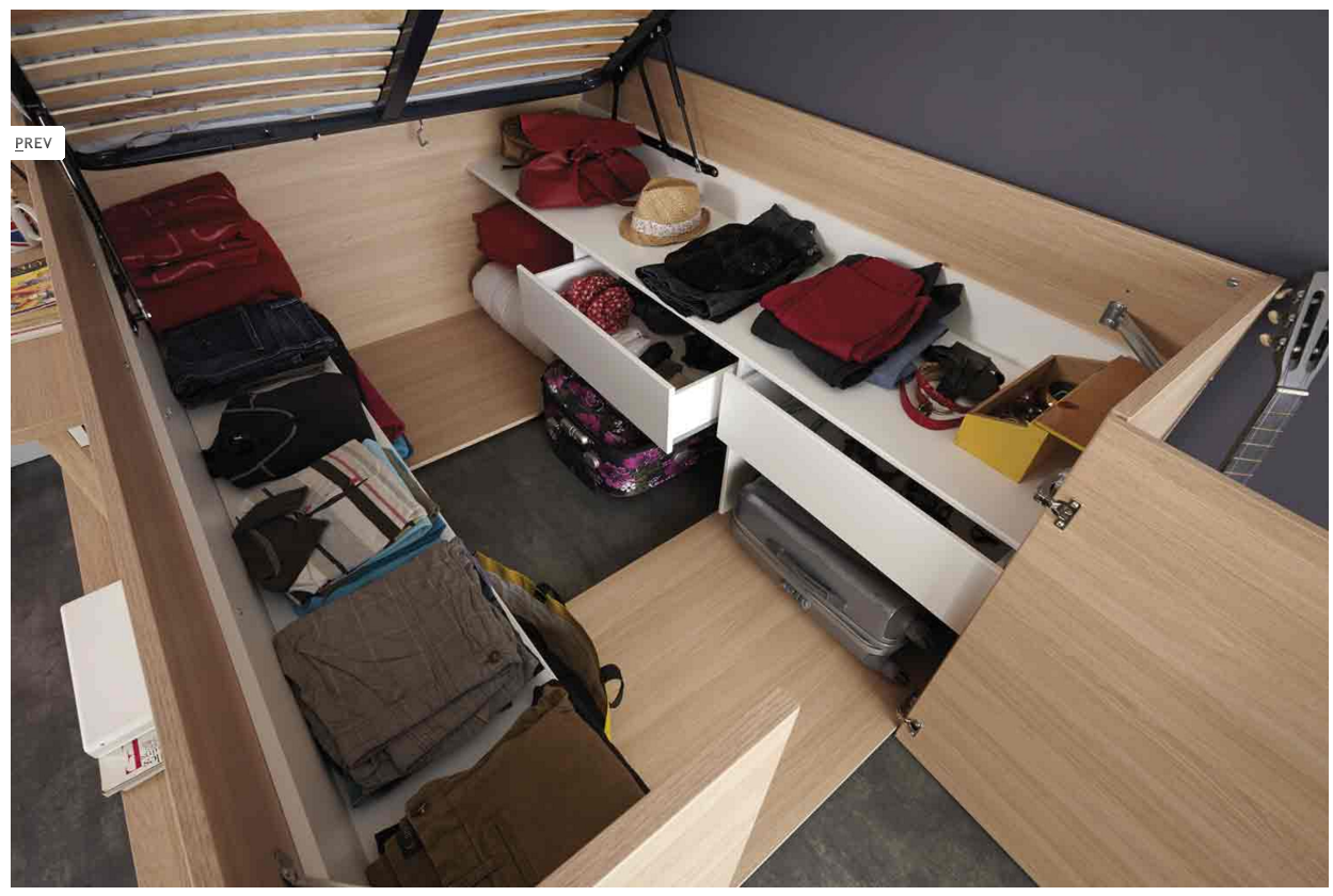 Flip Up Bed With Storage Underneath