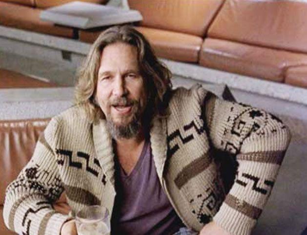 The Dude Sweater Big Lebowski Sweater Jeffrey Lebowski Dude Wool Sweater
