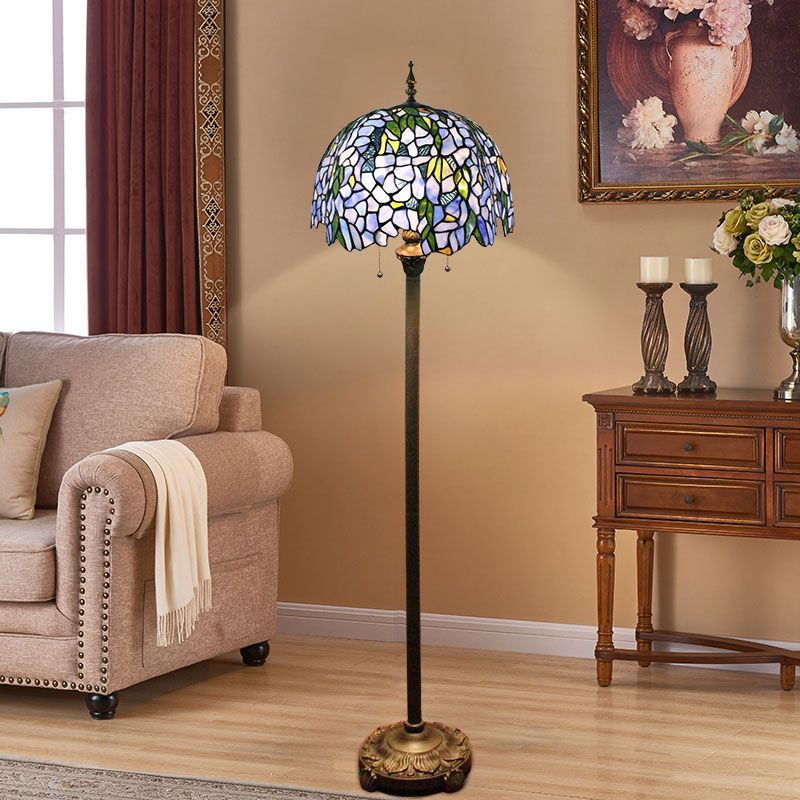 This tiffany floor lamp is antique style, and it's