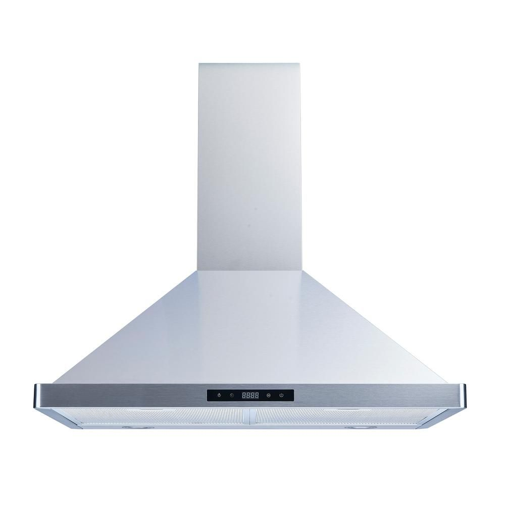 Winflo 30 In 520 Cfm Convertible Wall Mount Range Hood In Stainless Steel With Mesh Filters And Touch Sensor Control Wr003b30 In 2020 Wall Mount Range Hood Steel Wall Wall Mount