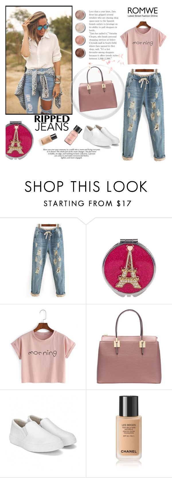 """""""Romwe"""" by beenabloss ❤ liked on Polyvore featuring Betsey Johnson, WithChic, Perricone MD and Terre Mère"""