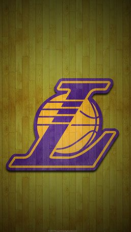 Los Angeles Lakers Mobile hardwood Logo Wallpaper