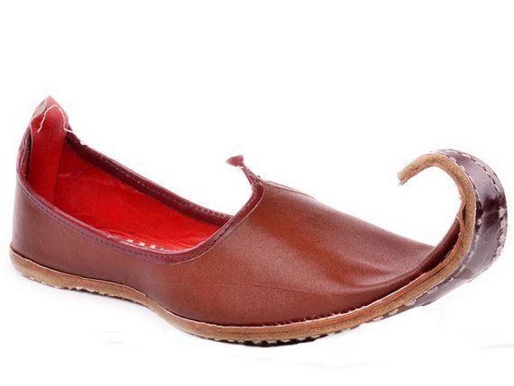 9924fbcd88950 Handmade Brown Leather Mojari Men Flats khussa shoe Maharaja Juti ...