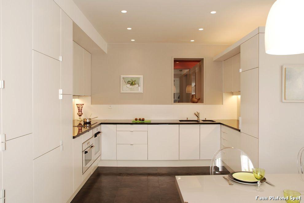 Decoration D Interieur Moderne Faux Plafond Cuisine On Decoration D - faux plafond salle de bain