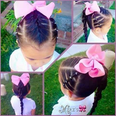 Peinado para niña belleza Pinterest Peinados para niñas, Para - peinados de nia faciles de hacer