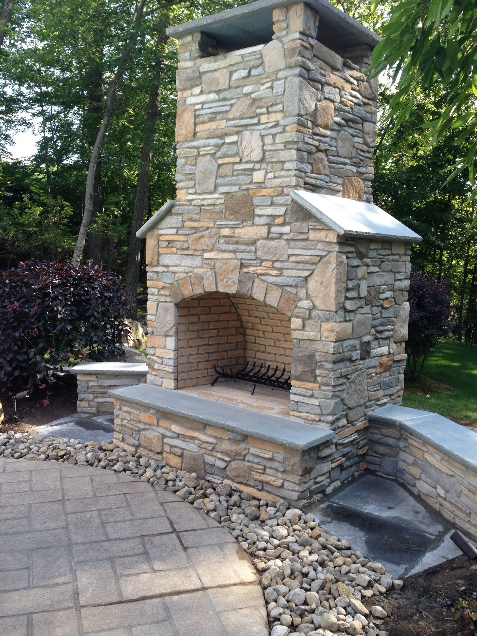 48 Inch Patio Table Cover: Outdoor Masonry Fireplace. 48 Inch Fireplace. Boral