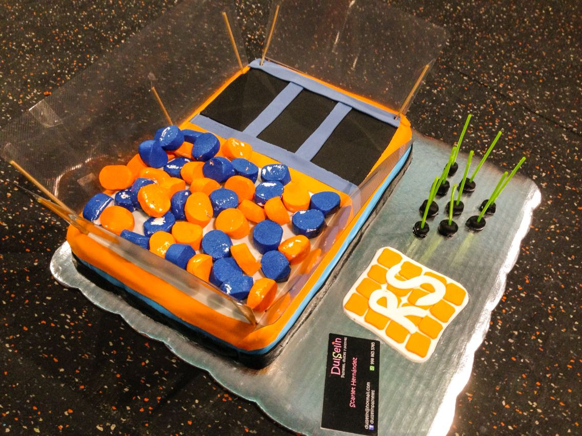 how to make a trampoline cake
