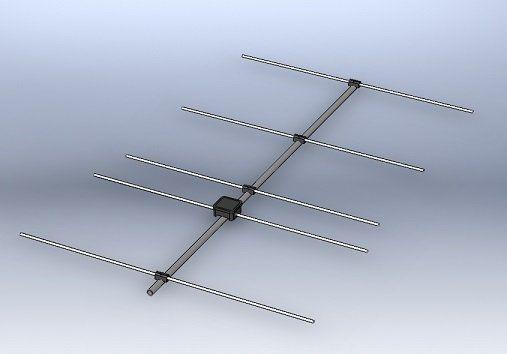 Homebrew 5 element Yagi antenna for 144MHz | Ham Radio | Ham