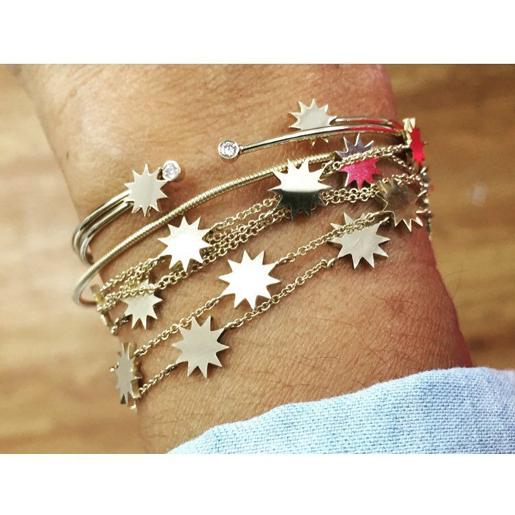 """My universe of stars ✨✨✨ #getyours #lovegold #love #miami #designer #carmendiaz #finejewelry """