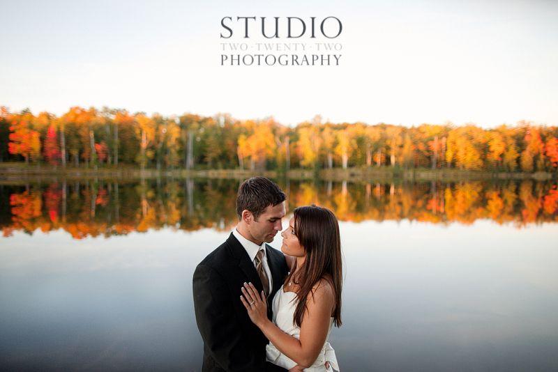 Michigan Wedding Fall Leaves