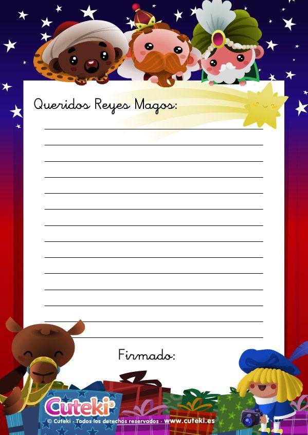 Carta A Los Reyes Magos Carta A Los Reyes Mago Dibujo Y Reyes