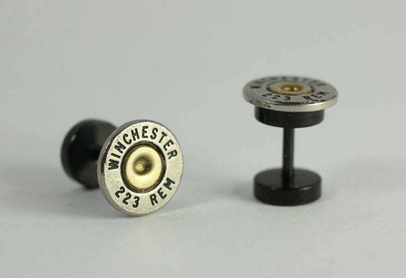 Negro 20 mm solo negro oreja calibre Tunnel Plug Pla plástico Steampunk Oro COGS