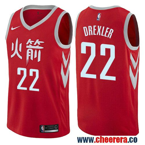 f3f7e7aec Houston Rockets  22 Clyde Drexler Red Nike NBA Men s Stitched Swingman  Jersey City Edition