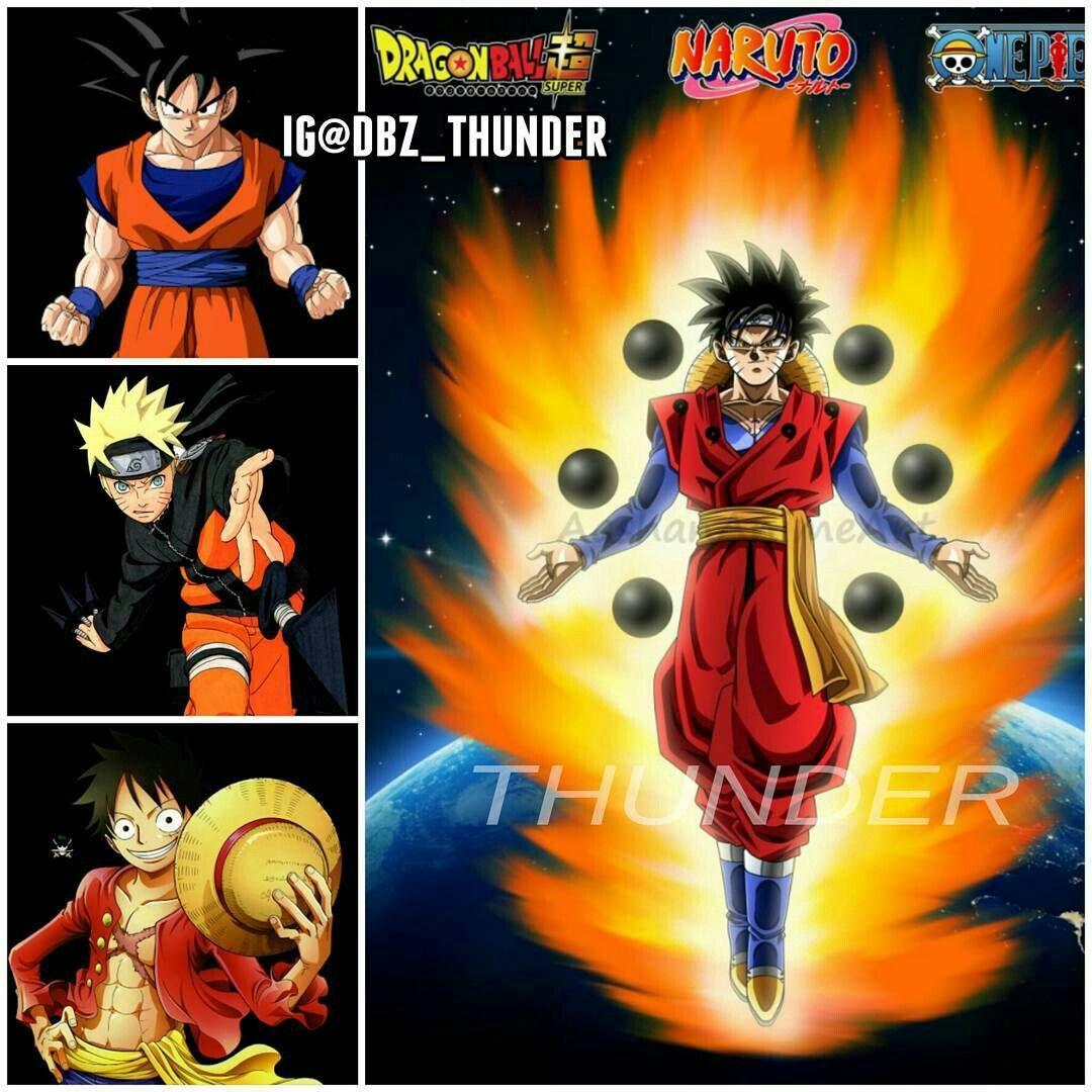 Mega Fusion Goku Naruto Luffy Name It Golutoffy Idek Anime Pokemon Animales