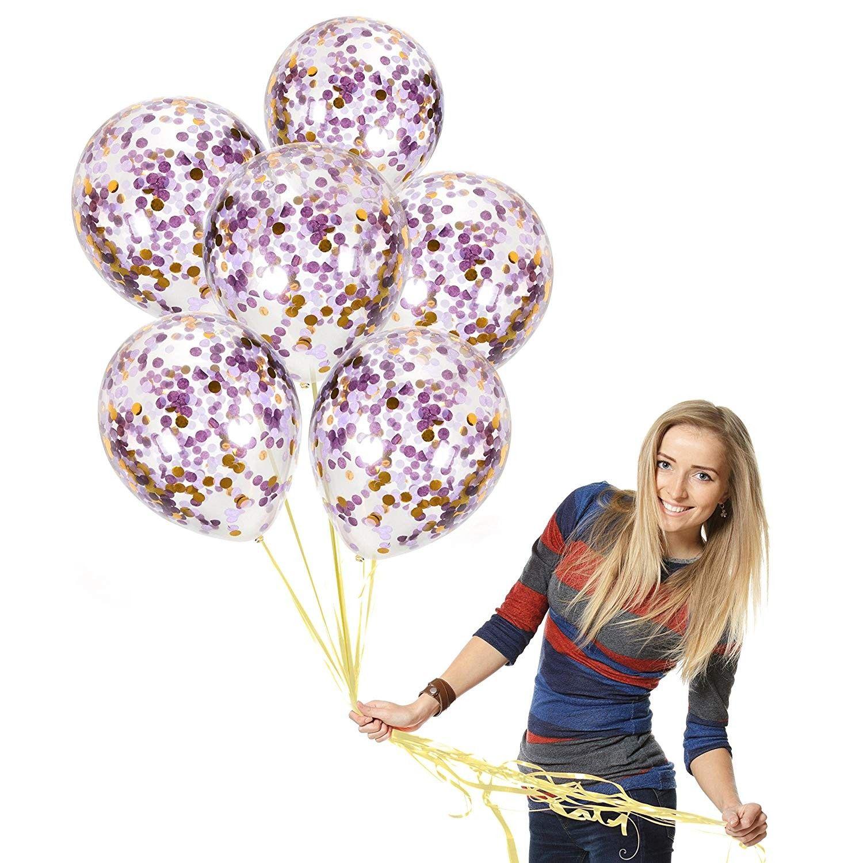 12 Inch Brithday Transparent Clear Latex Balloons Balloon Confetti Balloon