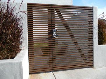Modern Wood Slat Fence El Segundo Modern Entry Los