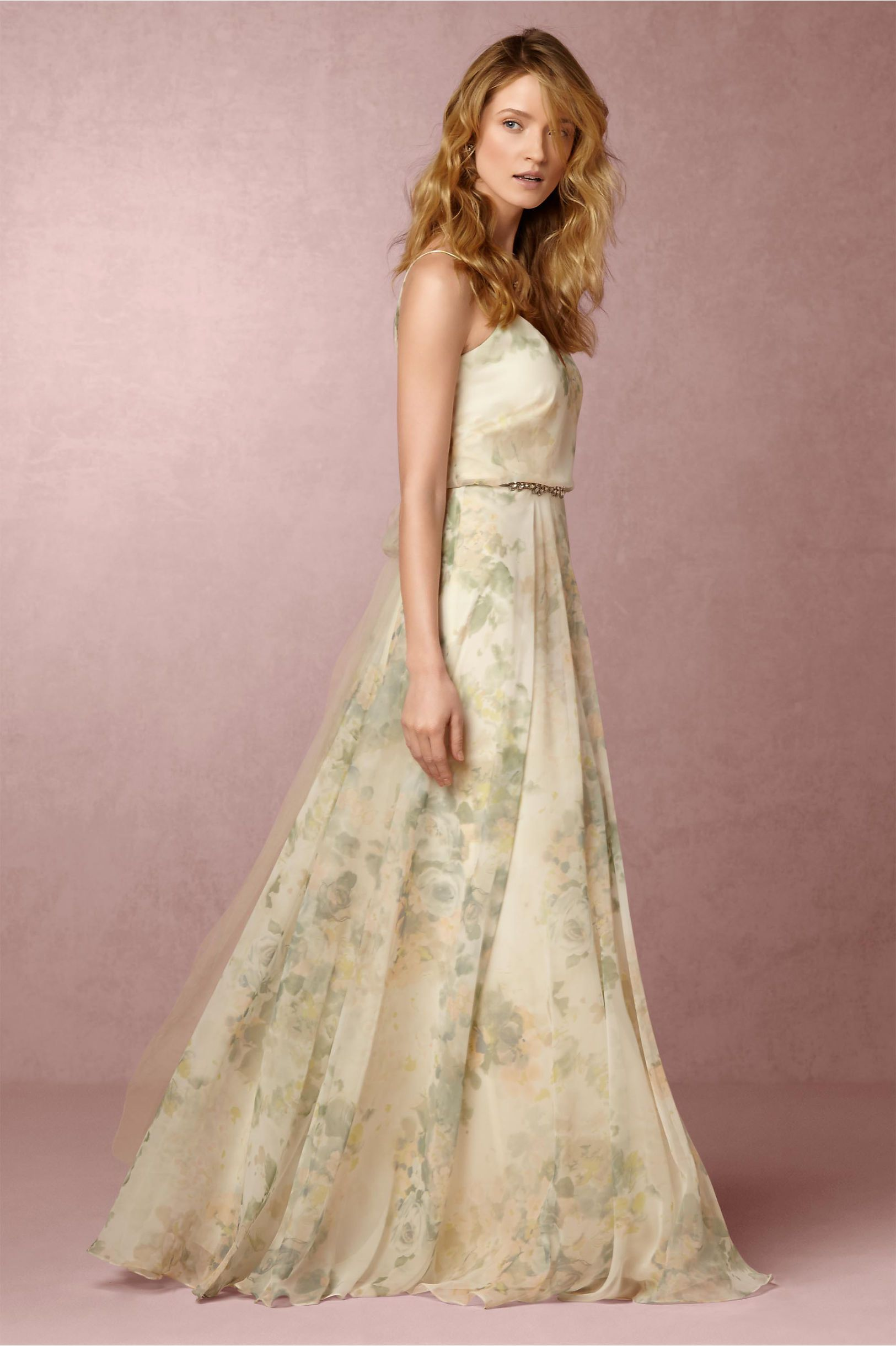 0a2c91748bc8 long floral print bridesmaid dress | Inesse Dress by Jenny Yoo for BHLDN