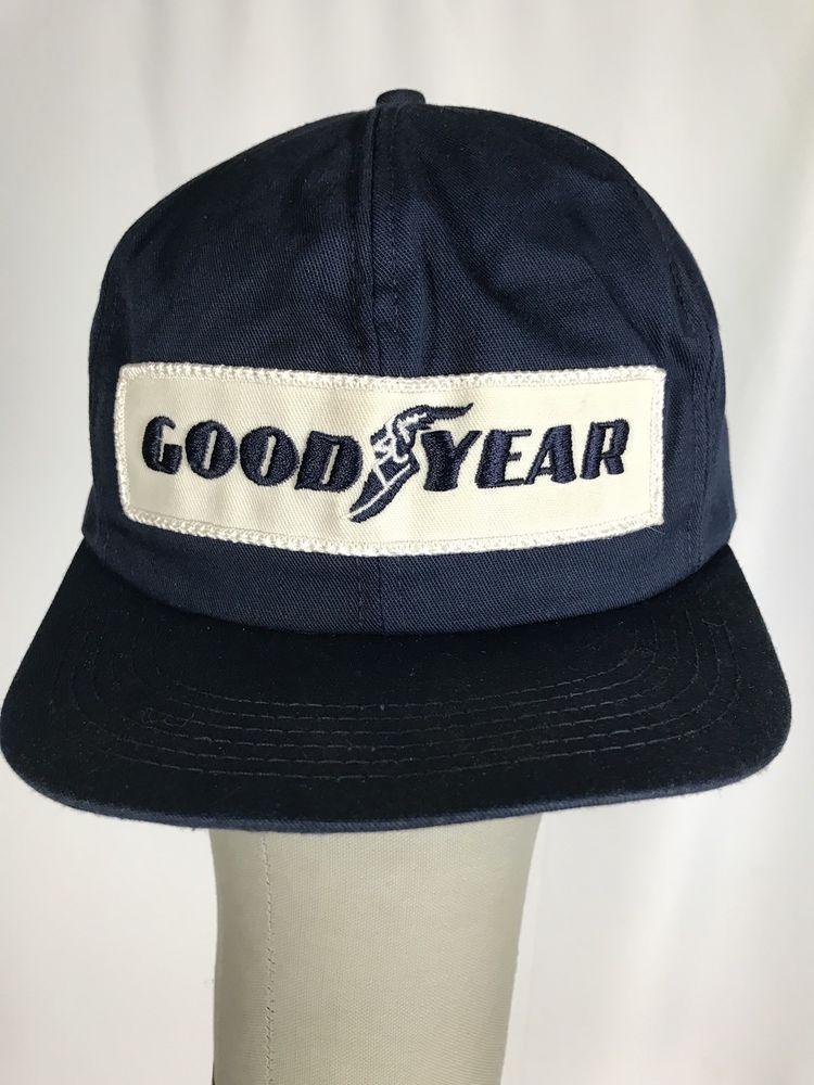 10b82b482 VINTAGE 1980s Trucker Hat GENUINE GOODYEAR Rare! K Brand Made in USA ...