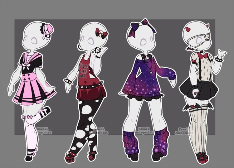 resultado de imagen para anime clothes drawing bases