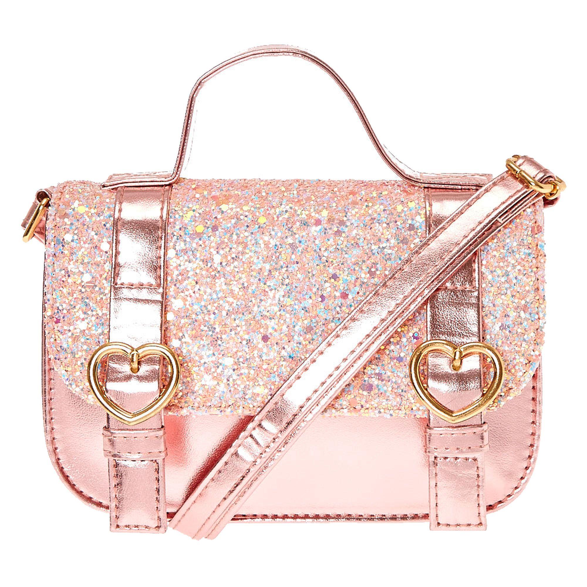 52b4a21f292e Kids Pink Glitter Crossbody Bag. Kids Pink Glitter Crossbody Bag Cute  Backpacks