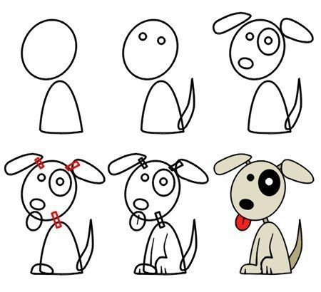 How To Draw A Dog Kids In 2019 Drawings Cartoon