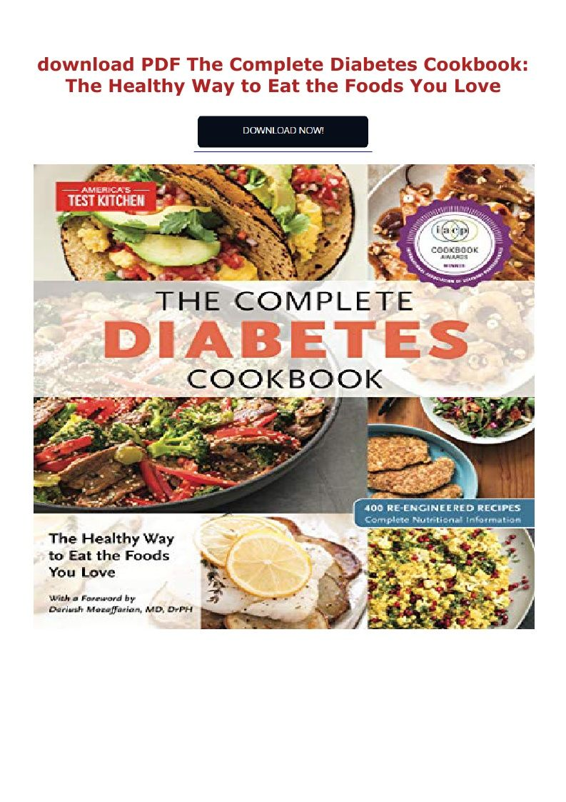 Pdf Download The Complete Diabetes Cookbook The Healthy Way To