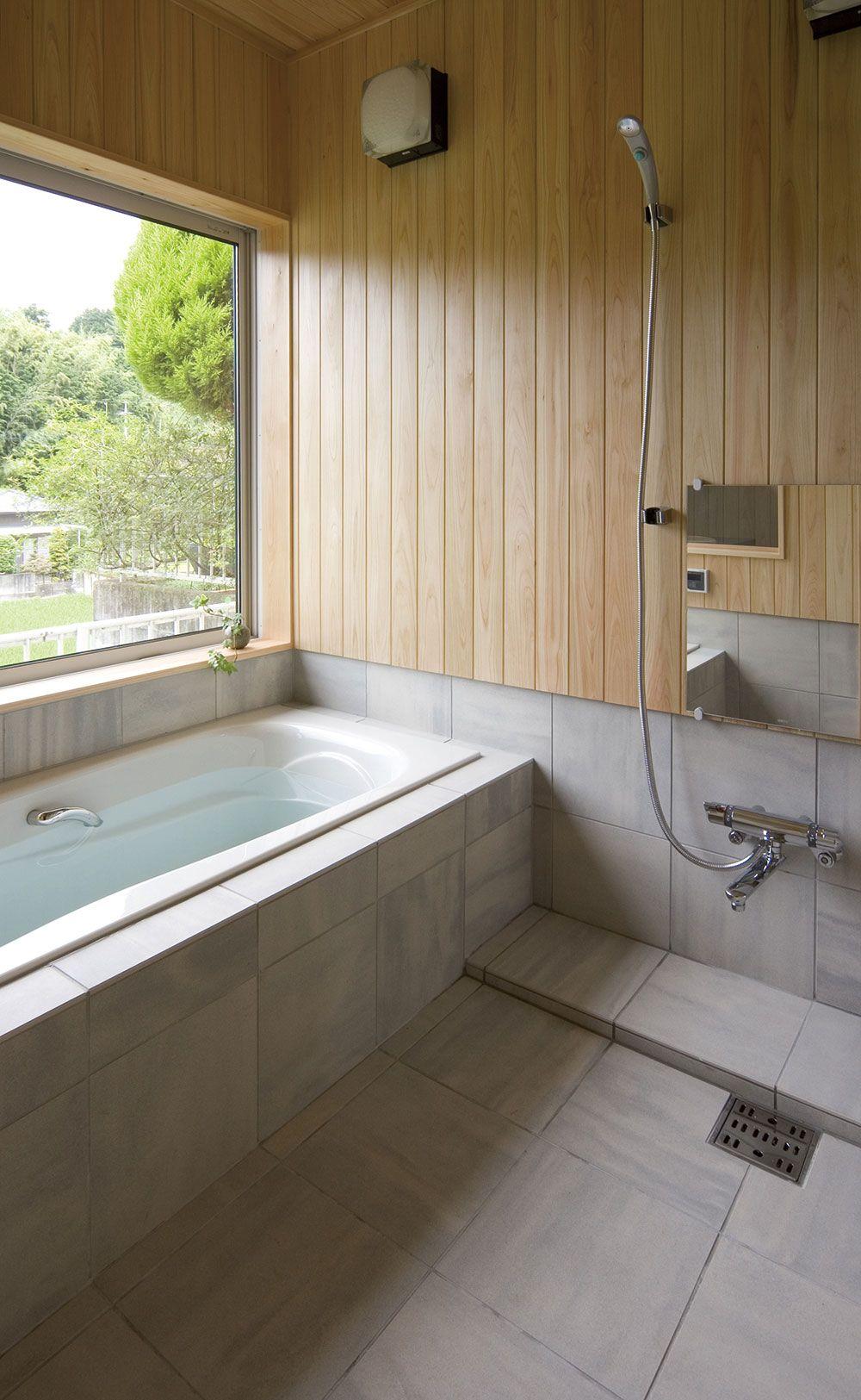 洗面 バス トイレ ギャラリー 新進建設株式会社 シンプル バスルーム 浴室の改装 浴室 インテリア