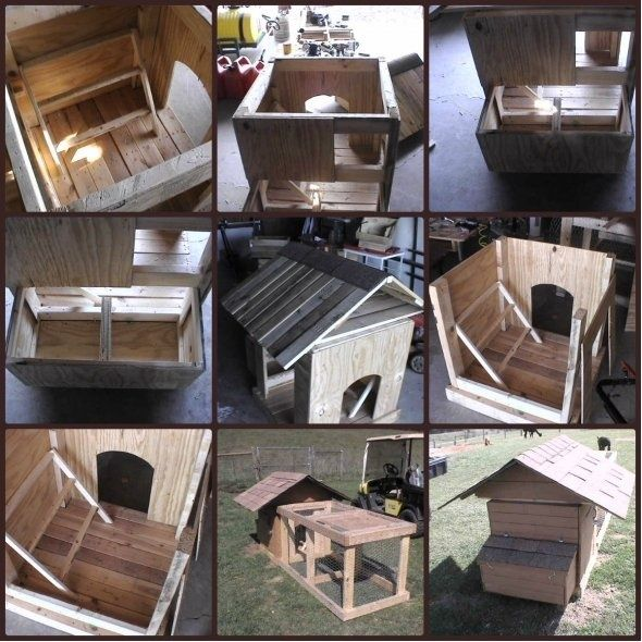Easy Diy 4 X6 Chicken Coop Hen House Plans Pdf: Diy Chicken Coop From Pallets