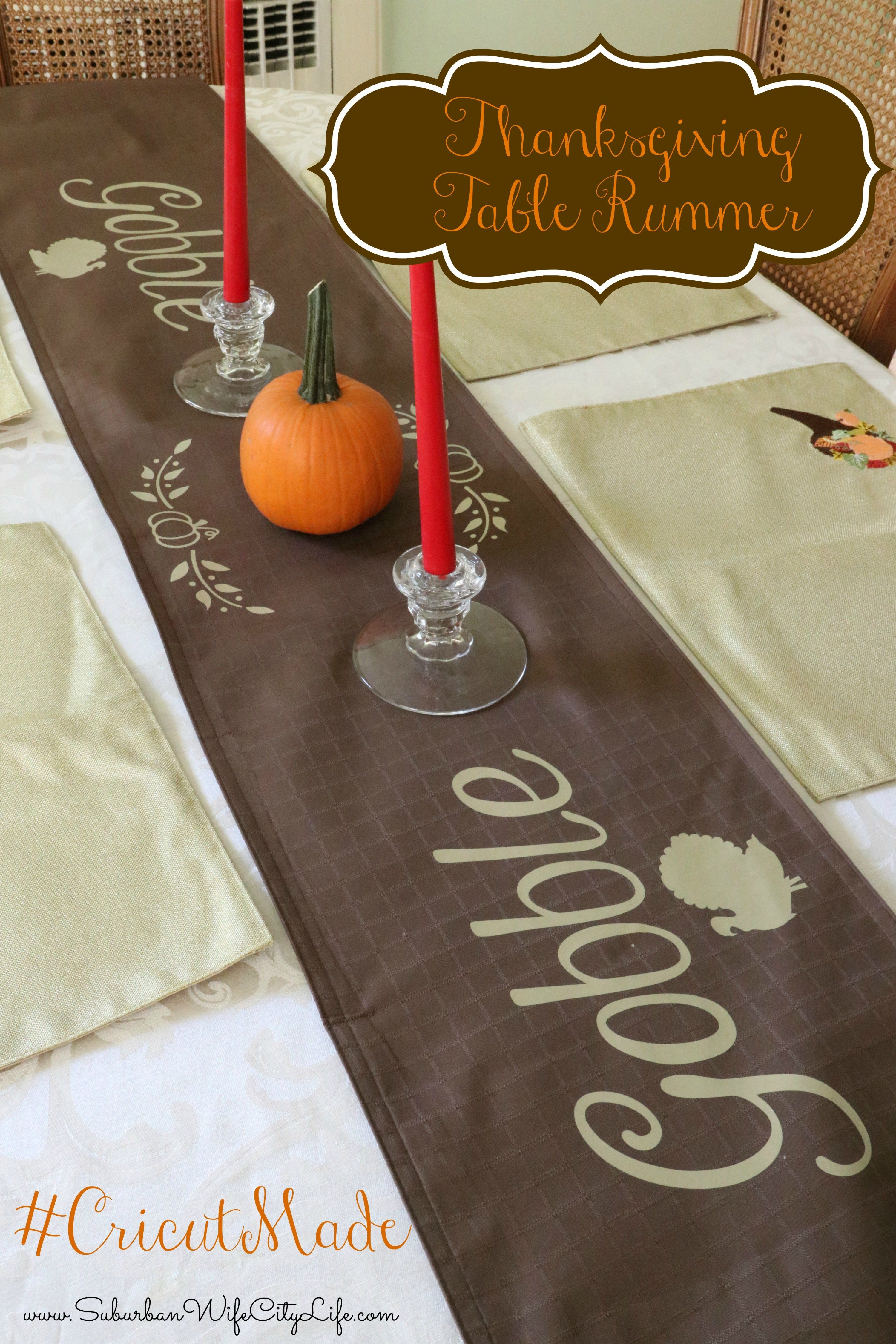 Gobble Gobble Thanksgiving Table Runner Thanksgiving Table