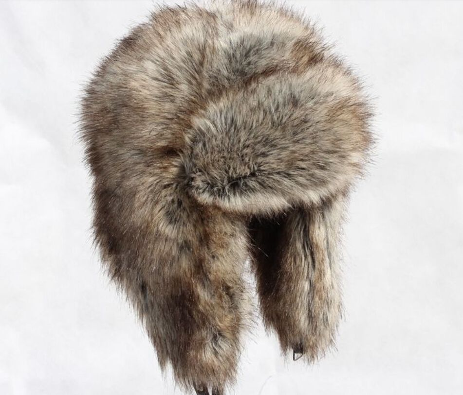 563f1ecc93d Autumn and winter men women s thicken thermal faux fur hat ear protect  skiing