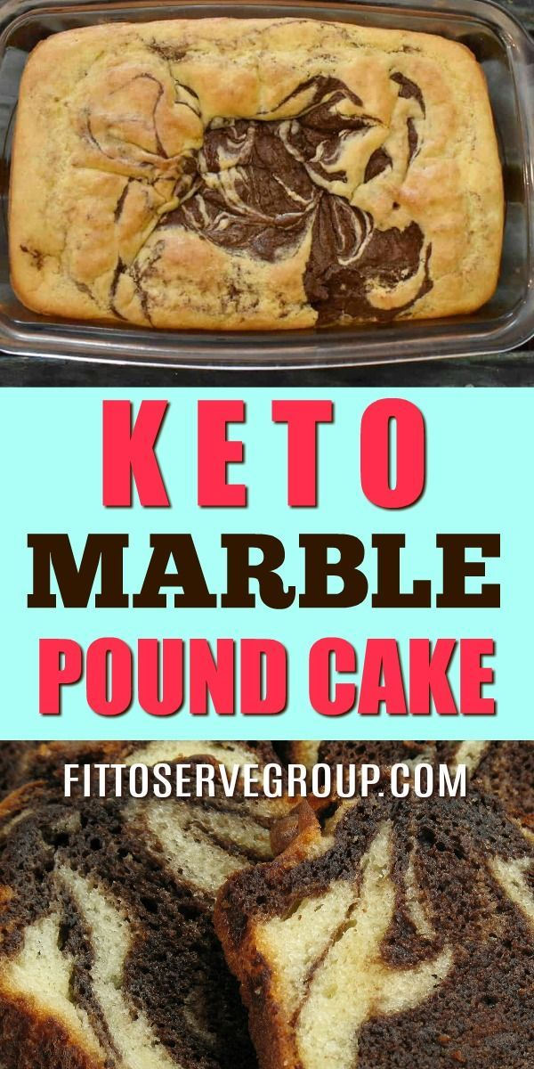Keto Marble Cake  A low carbohydrate marble cake with the taste of chocolate