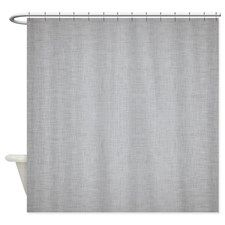 Grey Linen Shower Curtain for