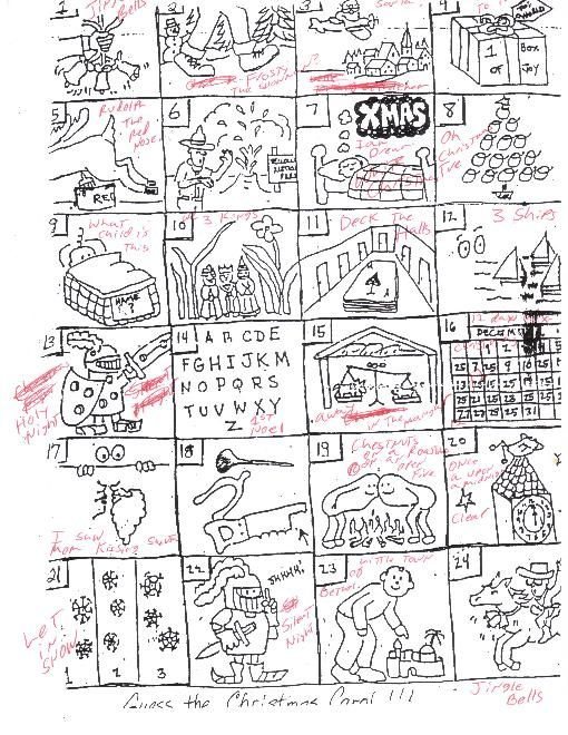 24 pictograms that students have to figure out the Christmas Carol – Christmas Carol Worksheets