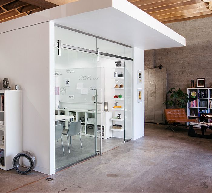 Office Sliding Glass Doors: Ragnar's Glass Mount Utilizes A Minimal Cantilever Which