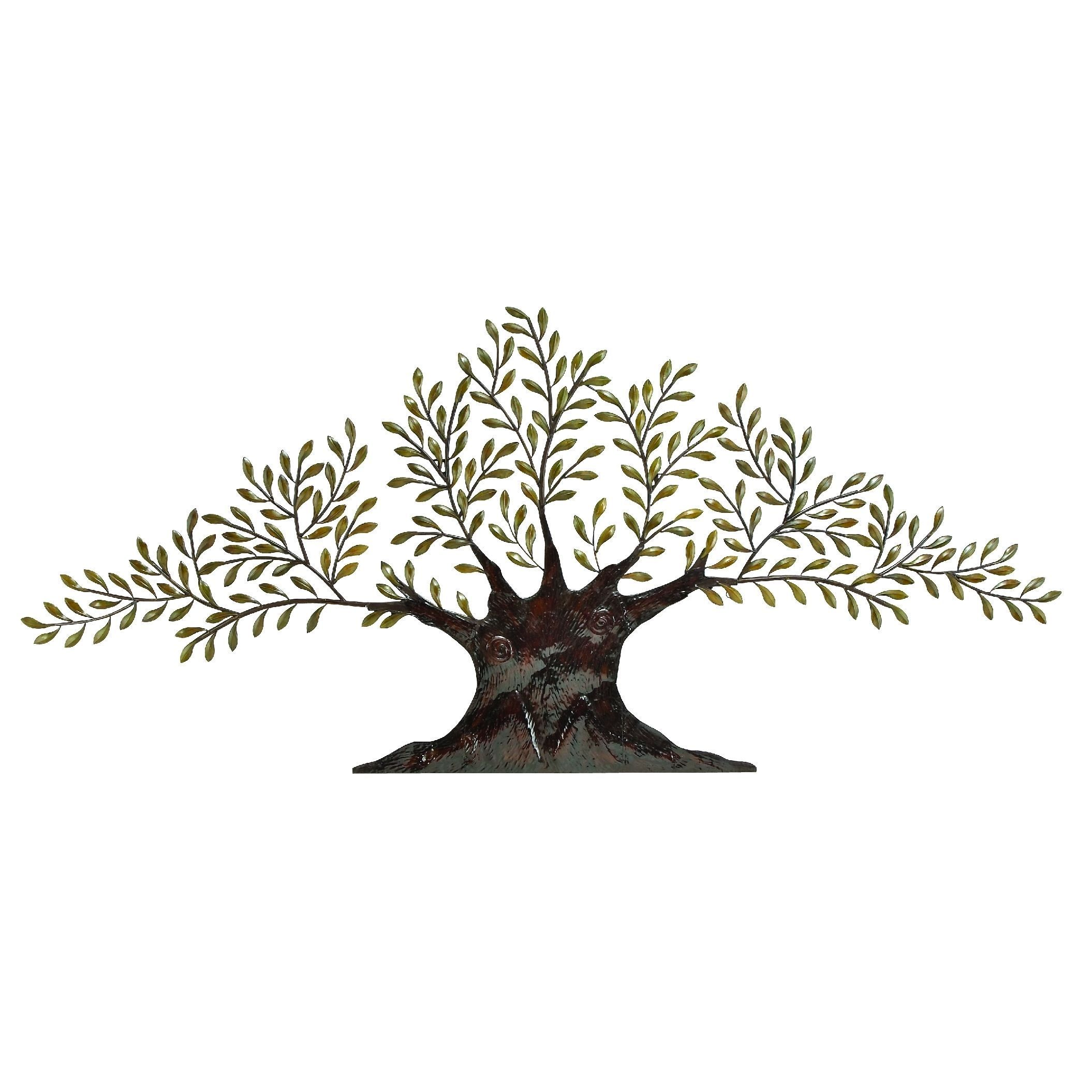 Studio inch metal grey traditional living tree wall