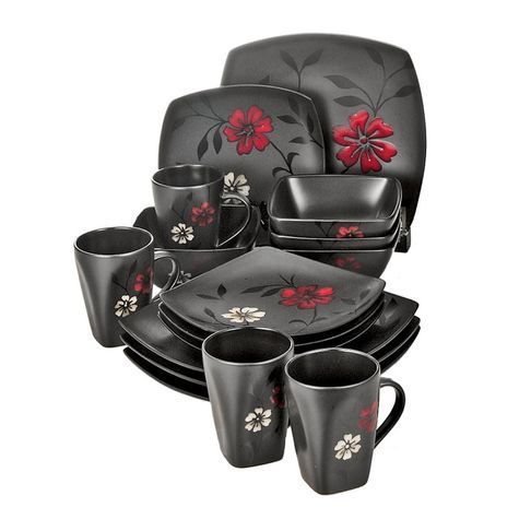 Gibson Evening Blossom 16 Piece Dinnerware Set Shopko THIS IS WHAT I LOVE- I  sc 1 st  Pinterest & Gibson Evening Blossom 16 Piece Dinnerware Set: Shopko THIS IS WHAT ...