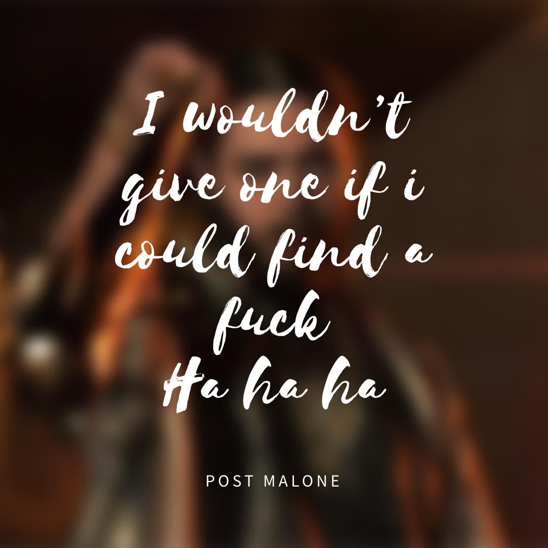 Post Malone Lyrics: #Postmalone #quote #stoney #goflex