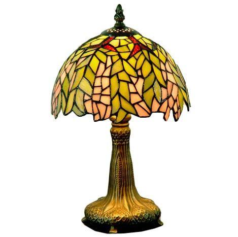 Lampara de mesa Tiffany Hojas