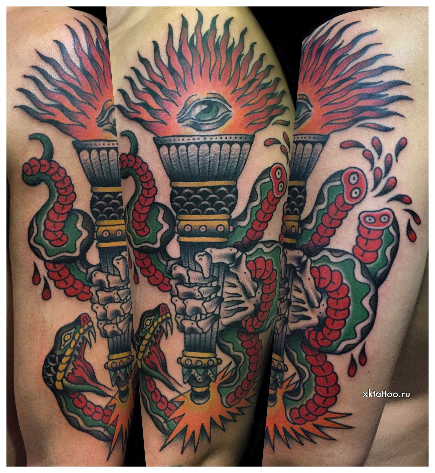 Color Tattoo By Dmitry Rechnoy Re4noy XKtattoo Studio