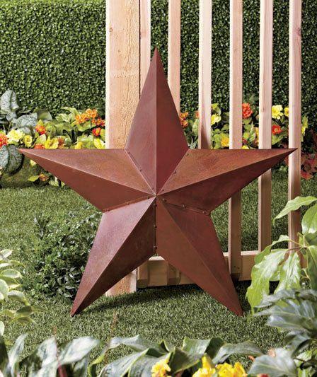 Rustic Country Large Metal Outdoor Wall Garden Yard Art Barn Star ...