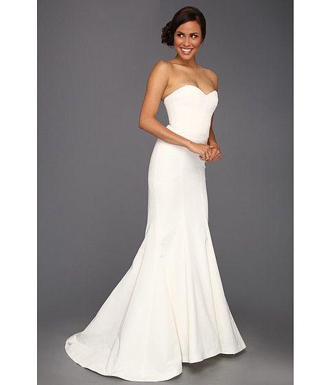 Used Designer Wedding Gowns: Nicole Miller Dakota Silk Faille Strapless Gown Ivory