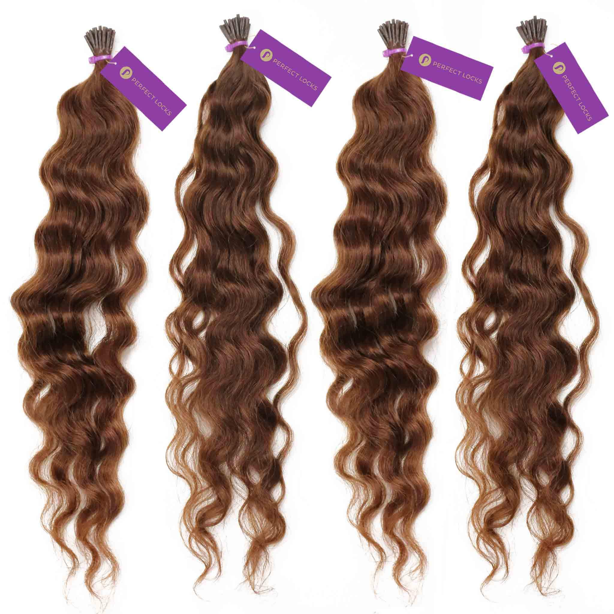 4 X Curly Fusion I Tip Hair Extension Bundle Deal Fusion Hair