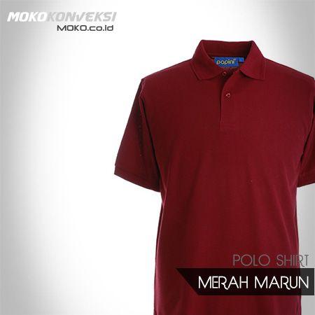 POLO SHIRT POLOS - MERAH MARUN - READY STOK - KONVEKSI SEMARANG MOKO. Jual  Polo 27426fbc6d
