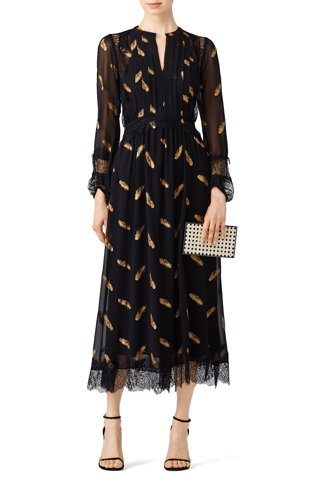 e81ec8bd22 Rent Gold Leaf Printed Maxi by The Kooples for $70 - $85 only at Rent the  Runway.
